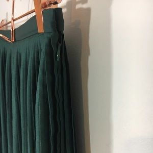 & Other Stories Skirts - & Other Stories Green Micropleated Midi Skirt